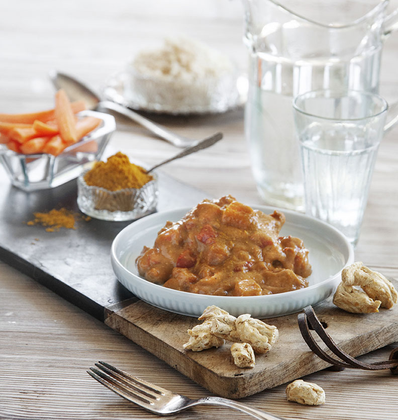 Chunks in curry - Organic Plant Protein